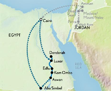 EgyptJordanMap