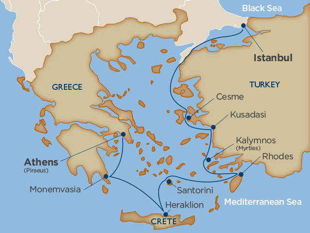 Gems of the Aegean Map
