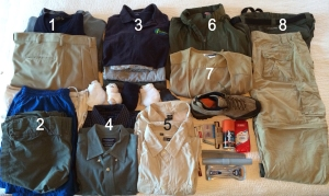 Dave's safari packing