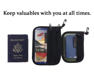 Advice for international flight - keep your valuables near you at all times.