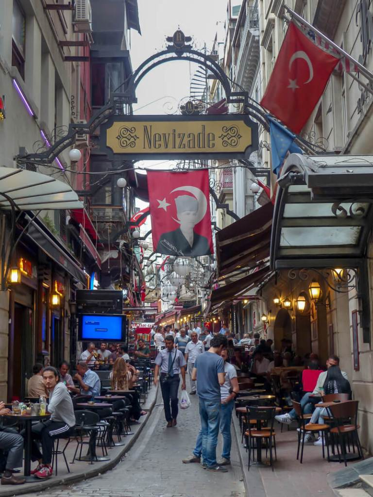 Taksim neighborhood comes alive in the evening. Explore the nightlife with a walking tour