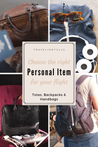 Choose the right personal item for your flight