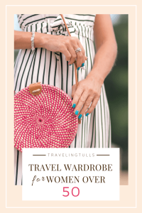 Capsule travel wardrobe for women over 50. Suggestions for paring down your packing list by choosing clothes that mix and match
