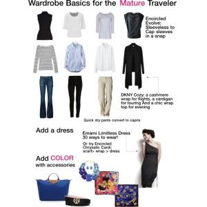 Capsule Travel Wardrobe for Woman Over 50. Wardrobe basics for older women