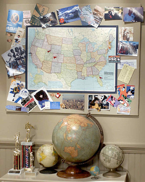 Map Poster Wall by Martha Stewart