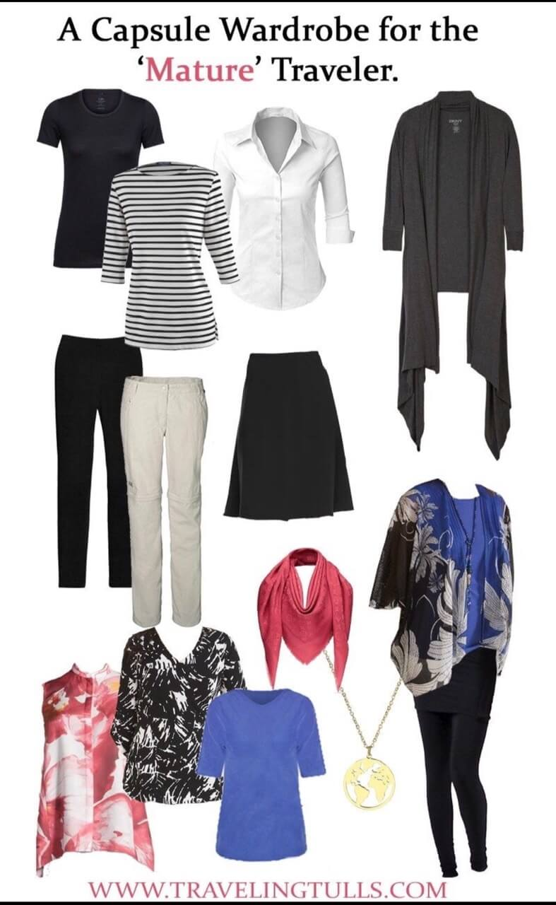 Capsule Travel Wardrobe for Woman Over 50