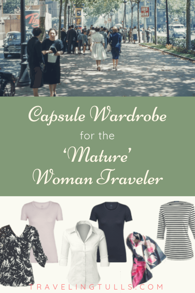 capsule wardrobe for the mature woman trave