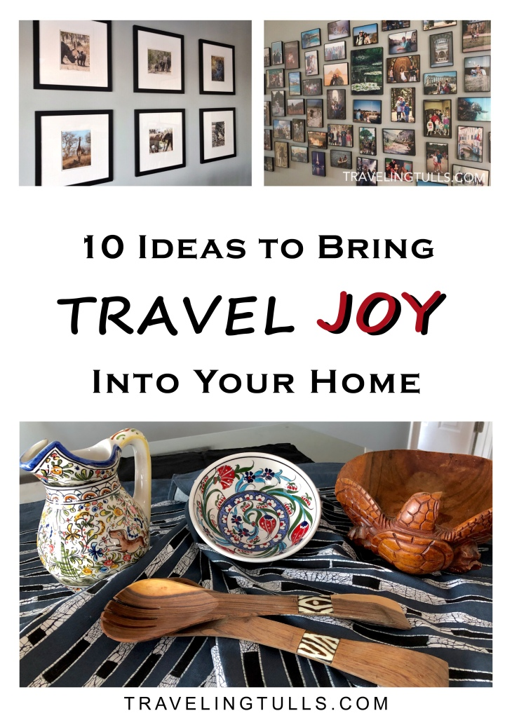 10 ideas to decorate your home with travel photos and memories