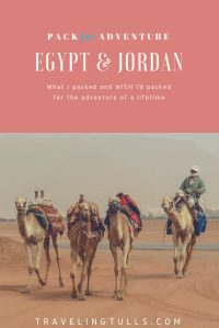 what to pack for travel to Egypt Jordan