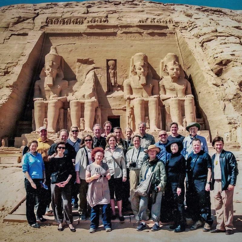 Abercrombie & Kent tour group at Abu Simbel