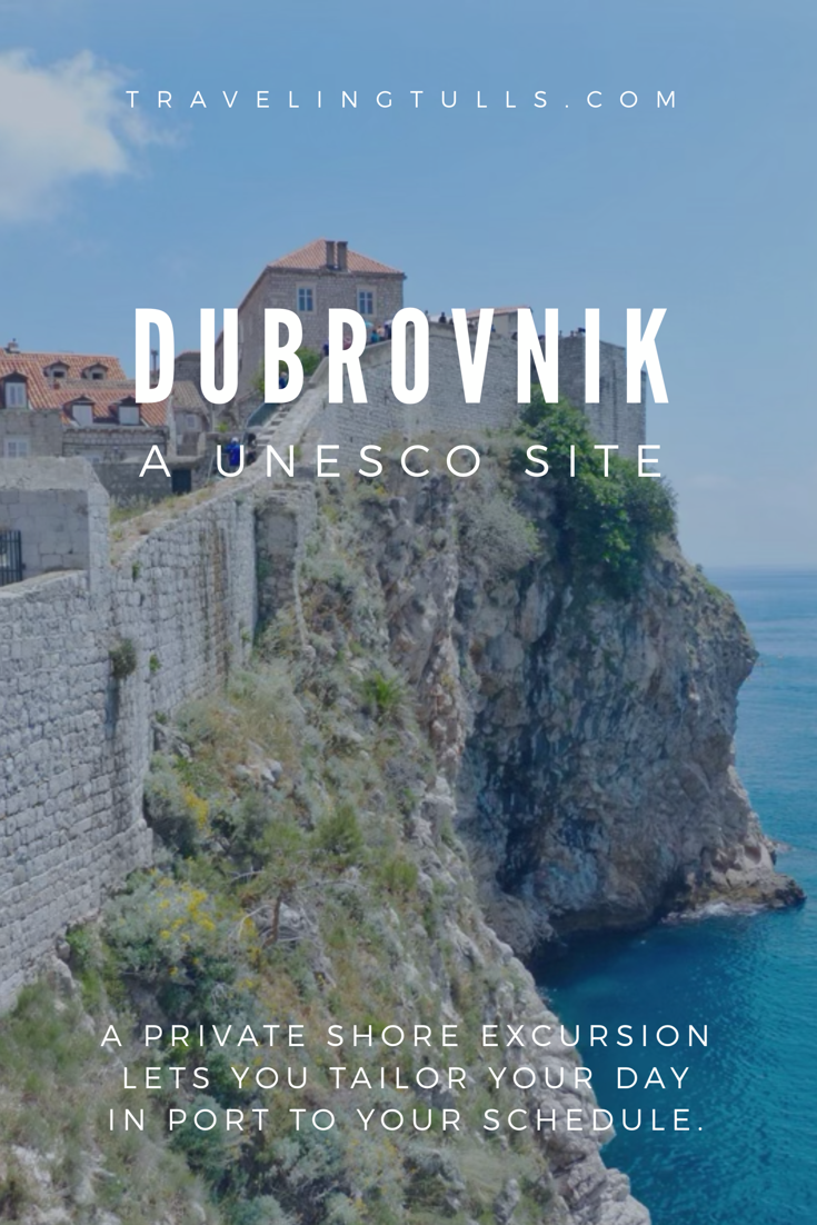 Dubrovnik, Croatia - the UNESCO listed Old Town is explored on a private shore excursion.