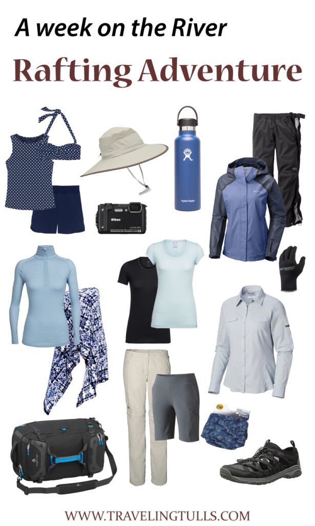 Packing for a River Rafting Trip, recommended travel clothing for women