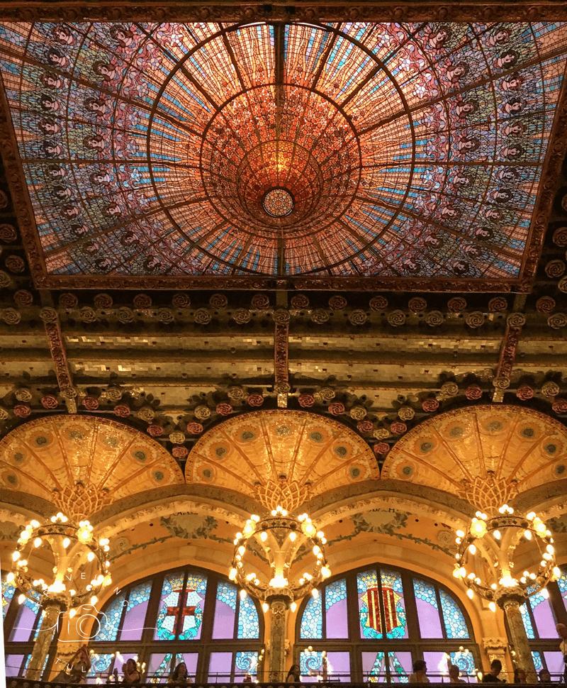 Palau de la Musica, a UNESCO site and must see in Barcelona