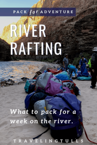 packing for river rafting