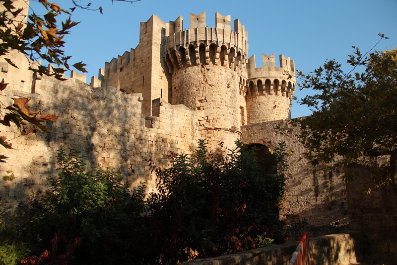 Walled medieval town of Rhodes on a private tour