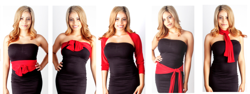 Diane Kroe Sleeve and Sash can be worn in many ways