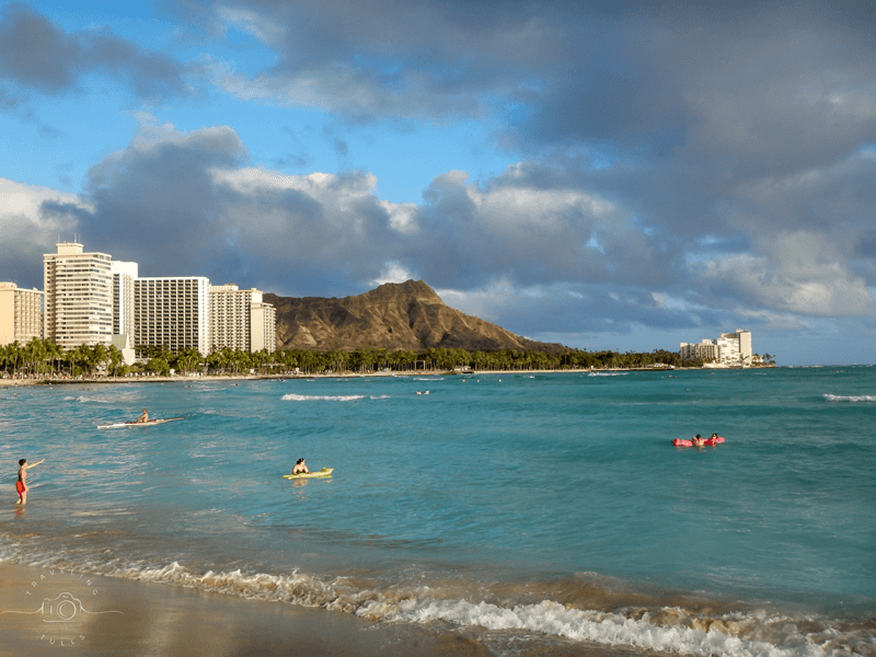 First stop on our first time visit to Oahu - Waikiki beach!