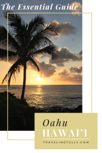 Essential guide for first time visitors to Oahu, Hawaii. Sunset on the North Shore