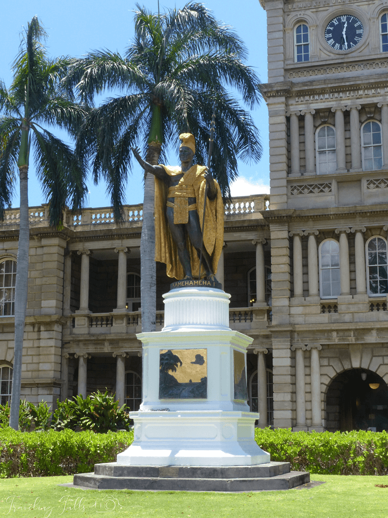 statue of King Kamehameha, a must see for a first time visitor to Honolulu