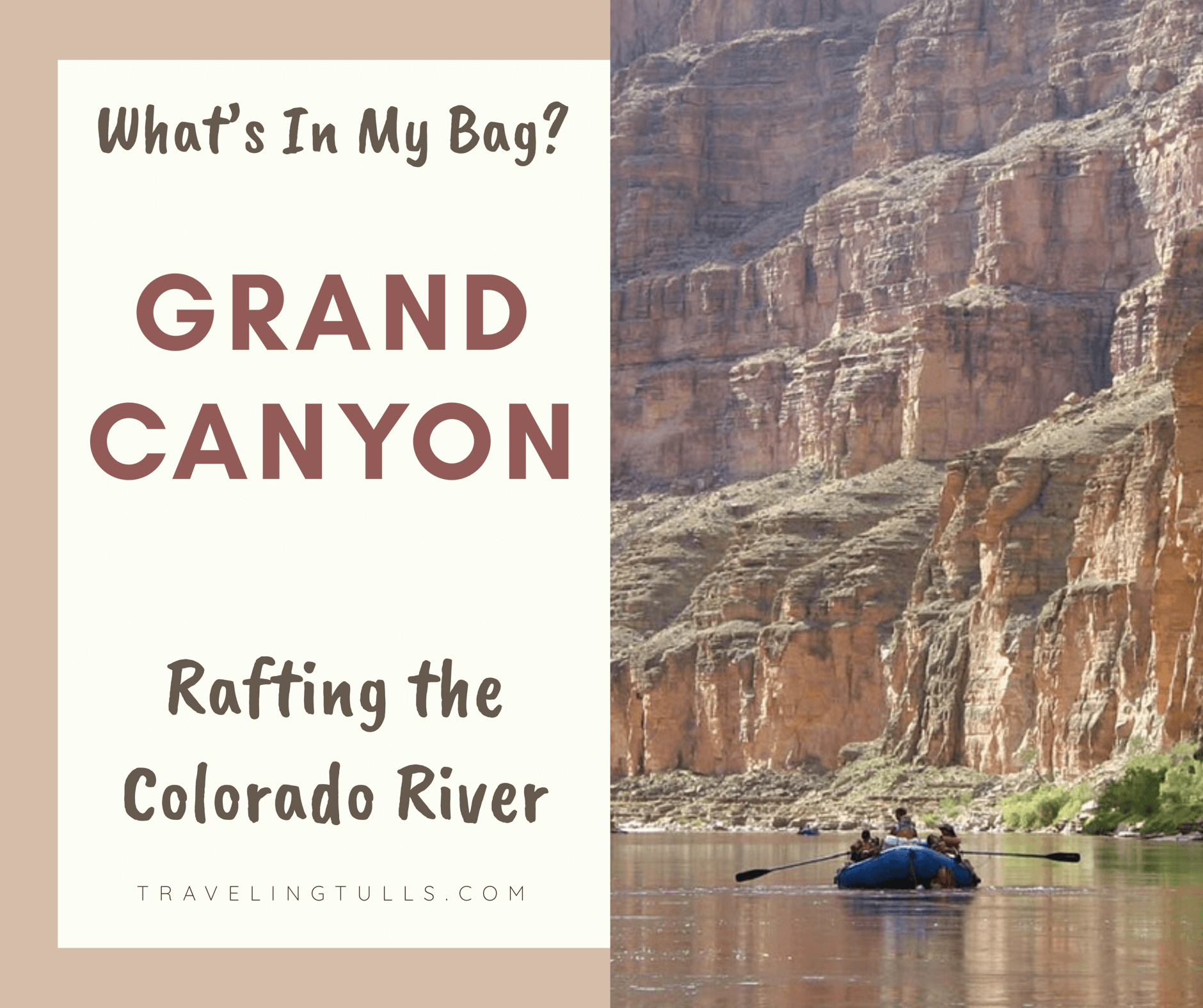 packing for a river rafting trip. What's in my bag