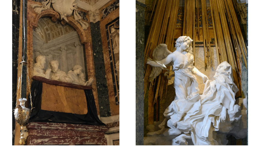 Bernini sculptures from our Angels and Demons self-guided tour