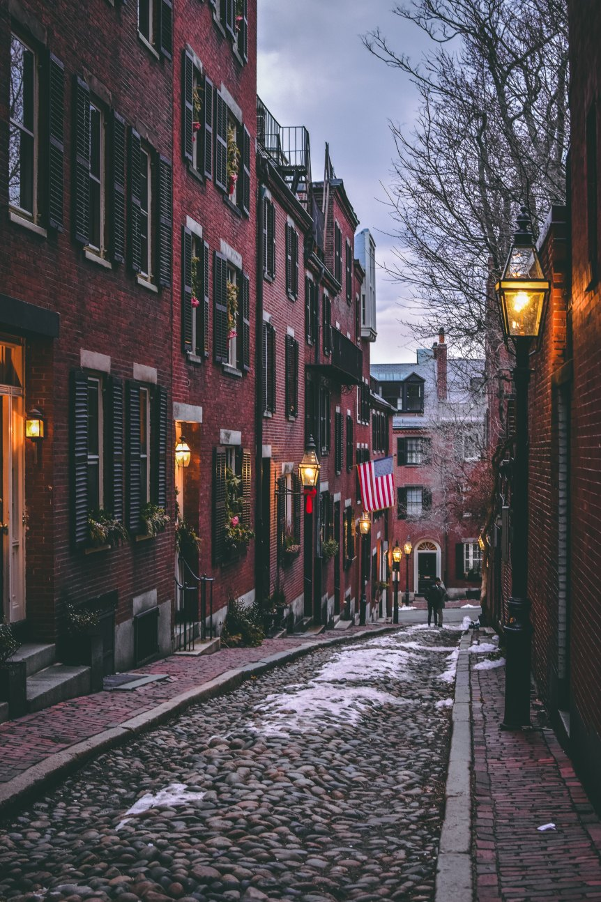 Take a break from your walking tour to stroll Beacon Hill