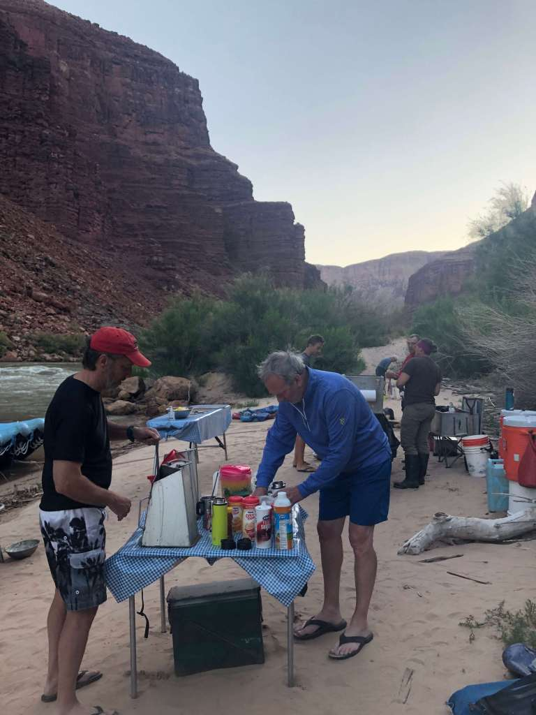 coffee at daybreak on the colorado river