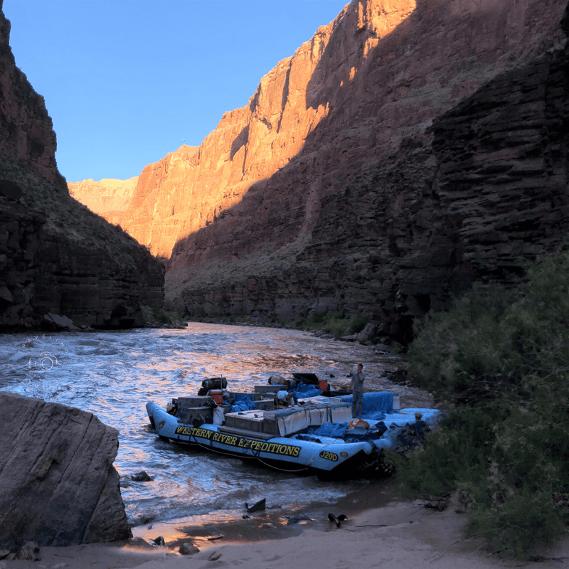 Sunrise, rafting the Colorado river