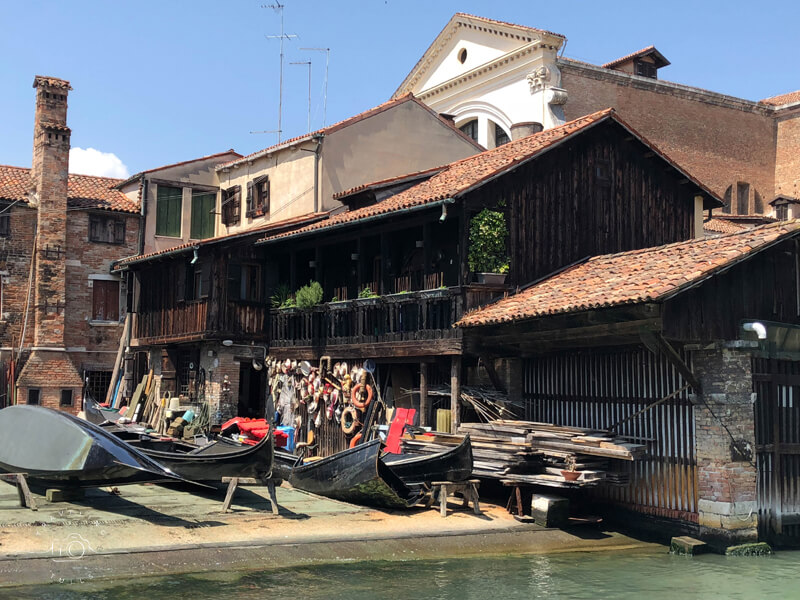 Gondola boat building yard, just minutes from St Marks square but a world away.