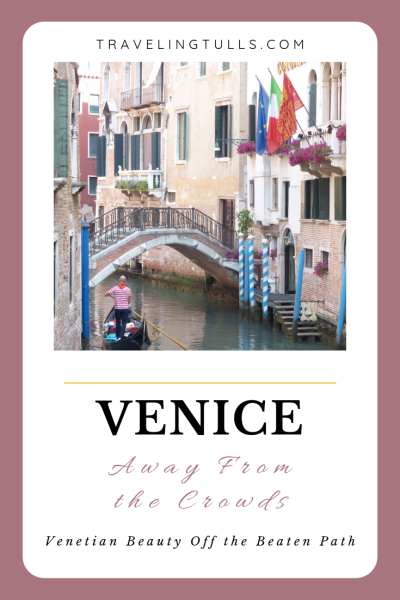 Venice off the Beaten track. Image of a quiet canal in Venice.