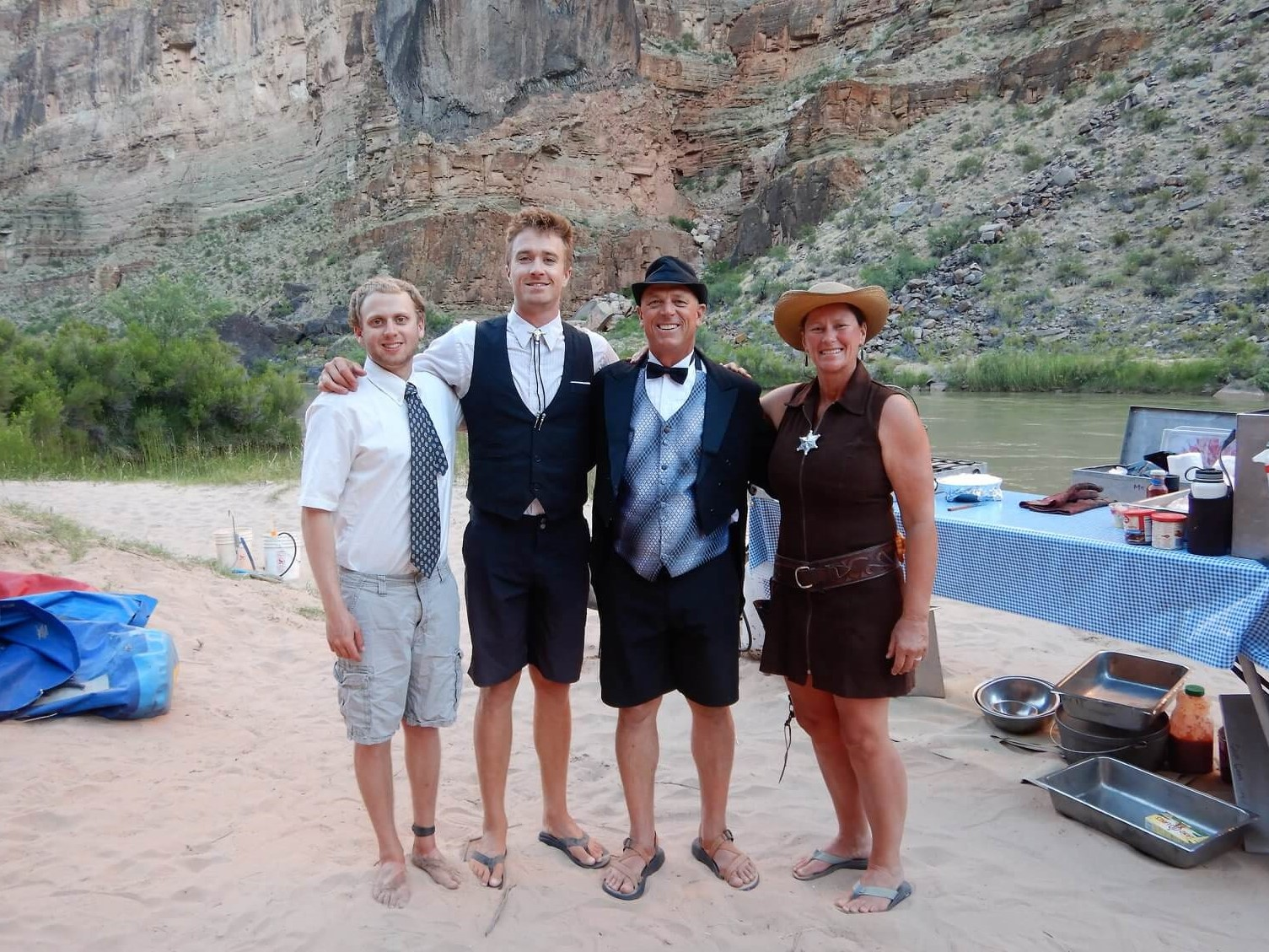 Dress up night on a river rafting trip. secrets the guidebook doesn't tell you