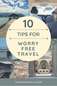 10 Tips for worry free travel. Things you can do for safer travel