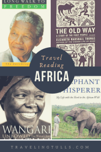 Books to read before travel to Africa. A mix of nonfiction, memoirs, and mysteries
