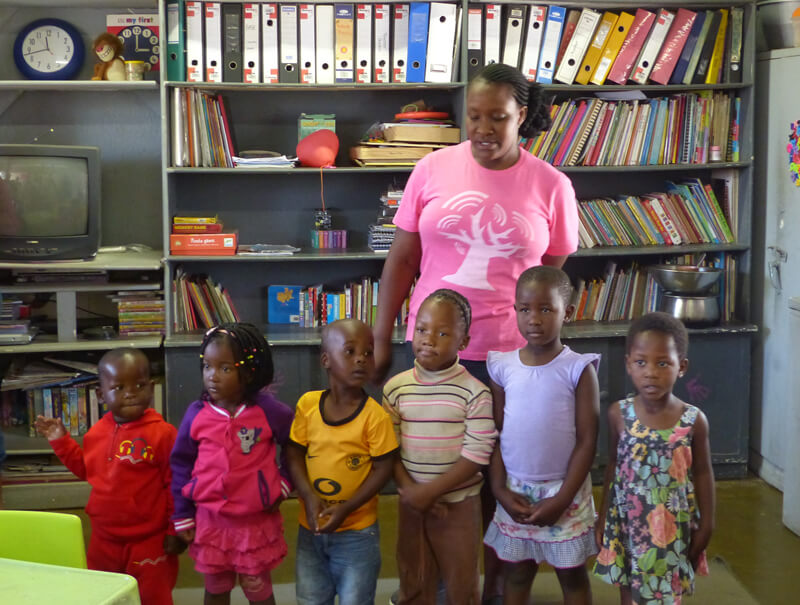 Kindergarten class at Londolozi safari staff village,