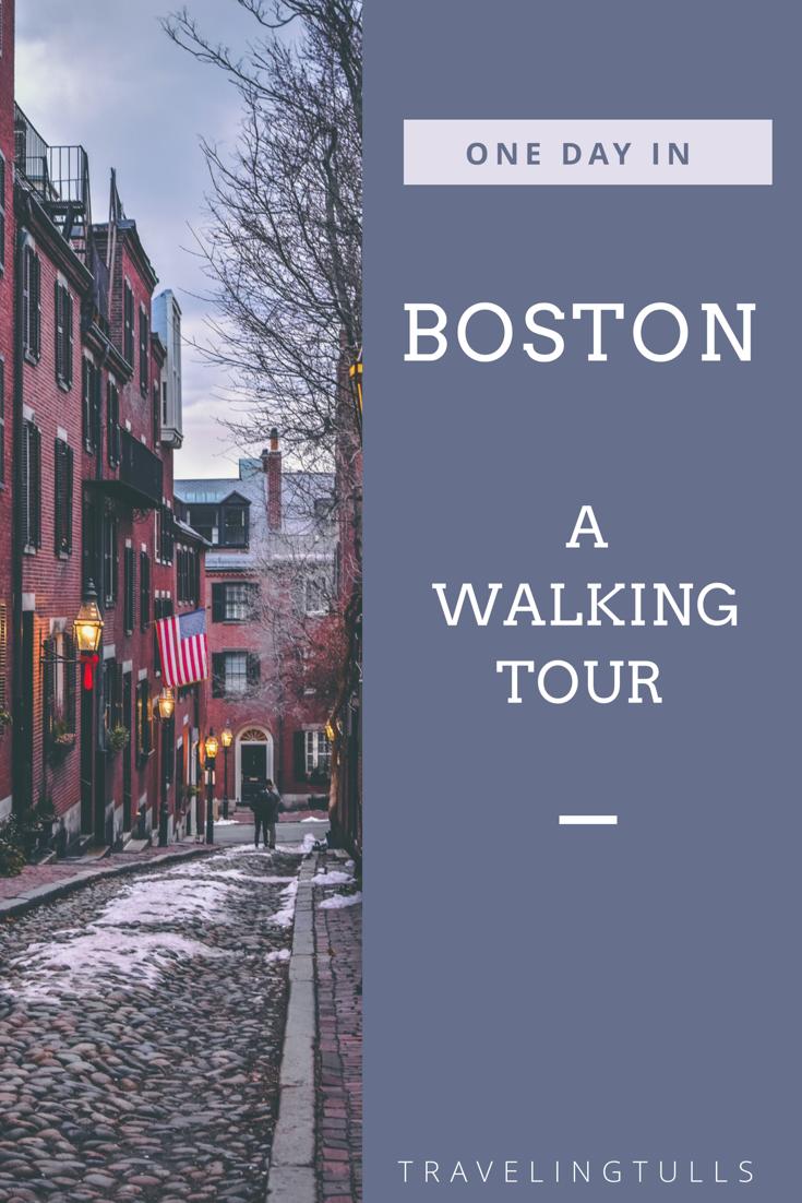 One Day in Boston. A walking tour of the landmarks of Boston