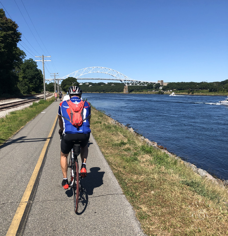 best cycling routes in Southeastern New England - the Cape Cod Canal bike path