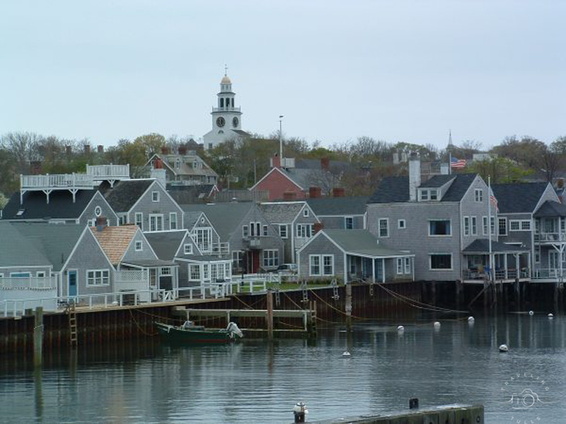 Nantucket Harbor. Some of the best bike trails in Massachusetts are on Nantucket