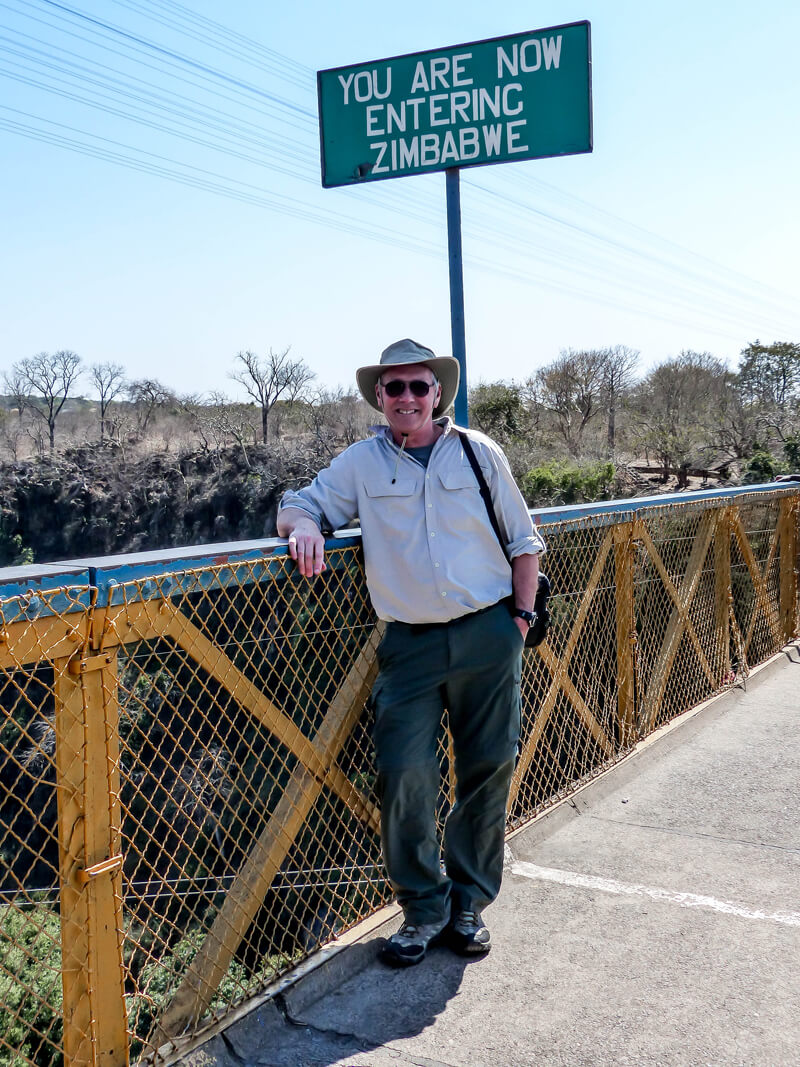 Crossing the border on the Victoria Falls bridge. An African Safari adventure