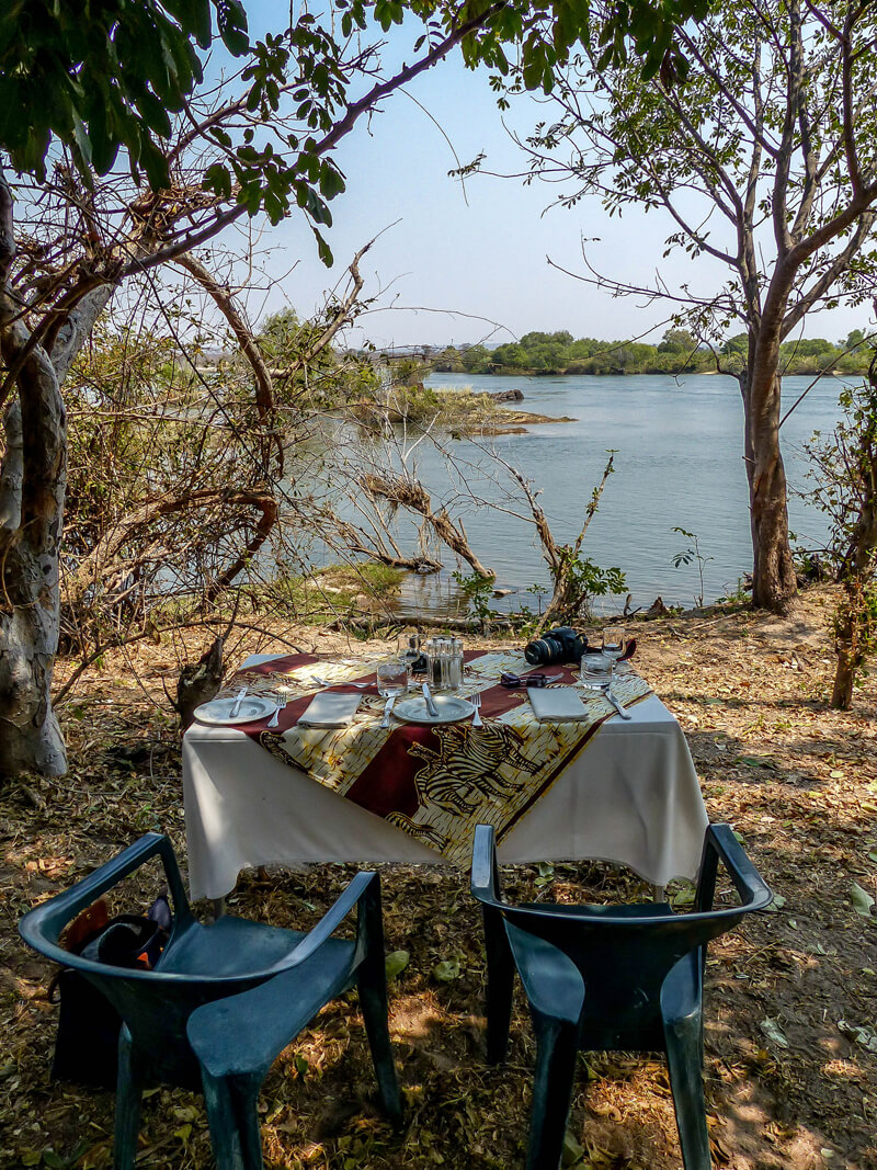 A Surprise picnic on the Zambezi River, on our luxury African Safari adv