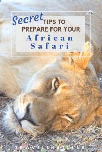 Secret to prepare for your African Safari