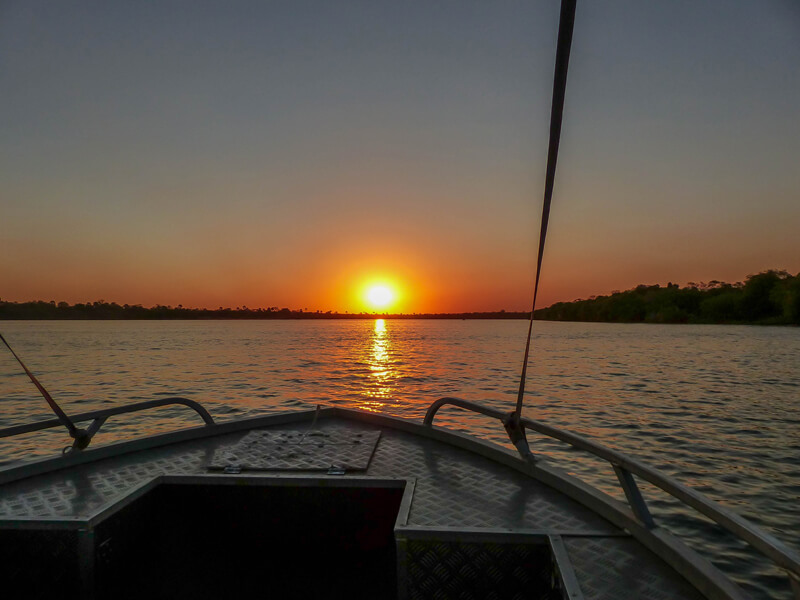 Sunset on the Zambezi river, our experience at Sanctuary Sussi and Chuma, a luxury safari camp