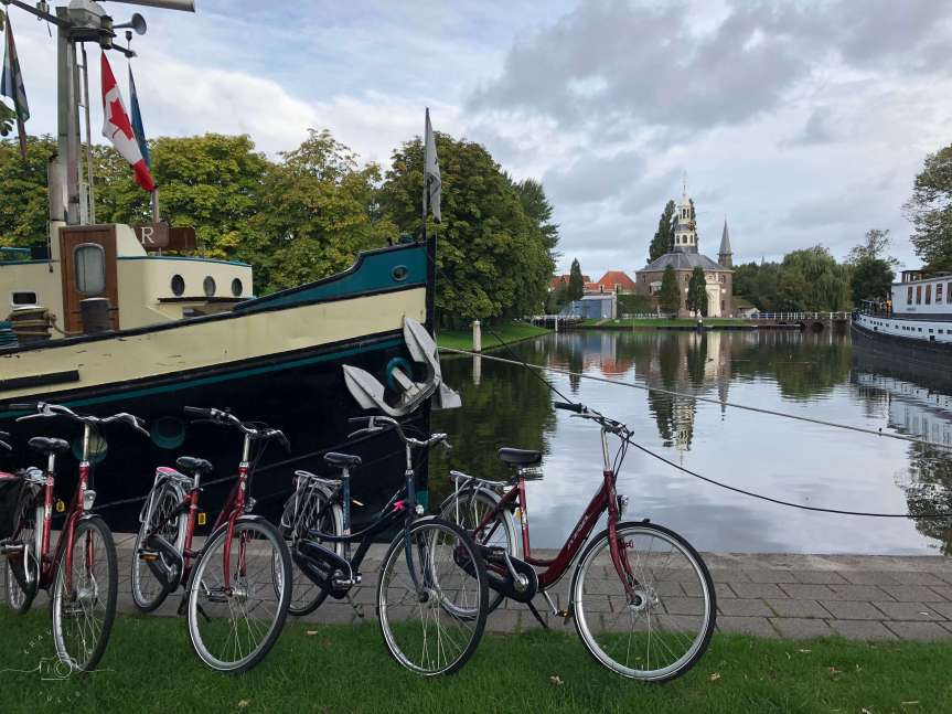 Morning in Leiden on a Bike and Barge Holland tour.