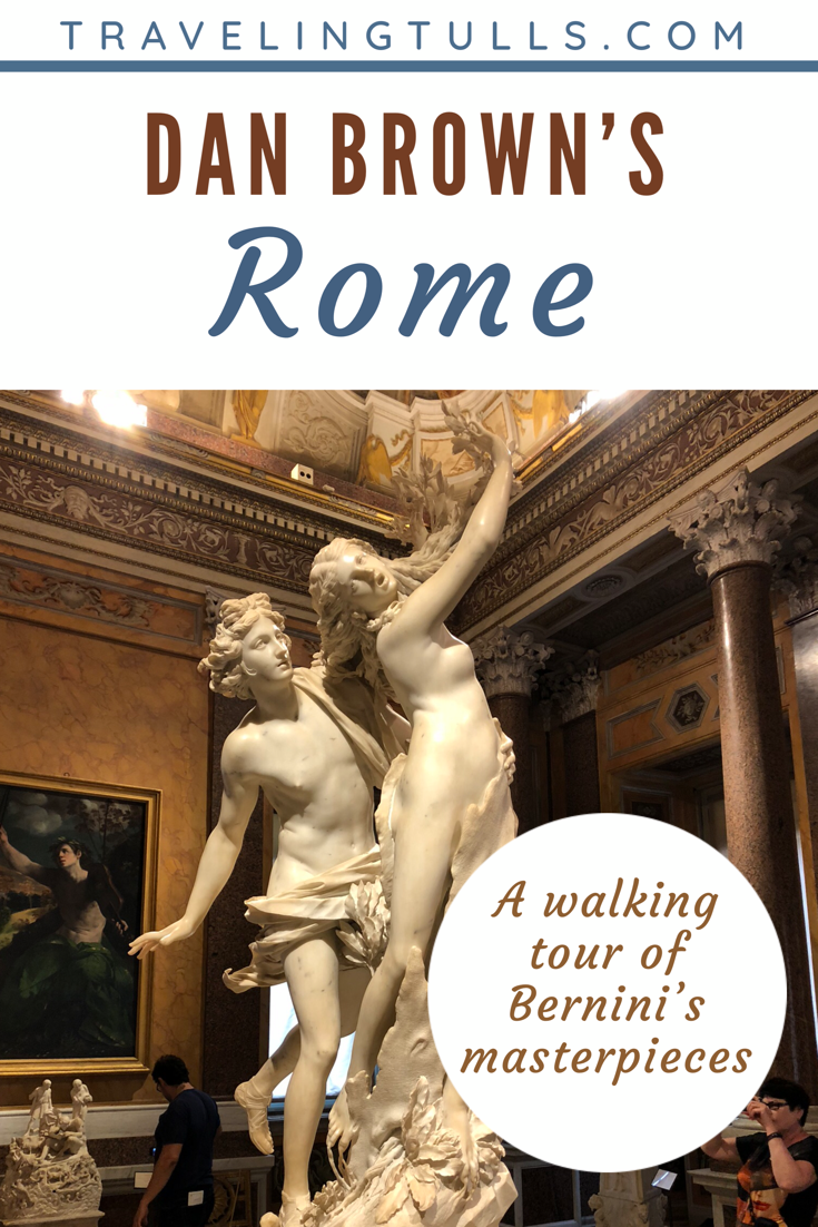 Follow Bernini's masterpieces as you xplore Rome on a self-guided Angels and Demons tour, a guide to Rome based on Dan Brown's bestselling novel