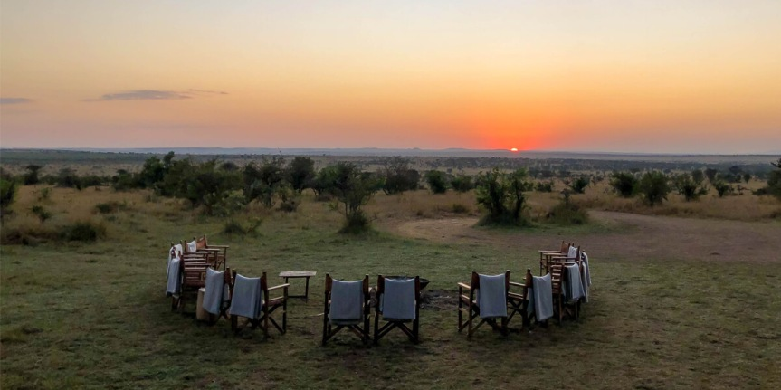 luxury safari in Africa, Serengeti sunrise