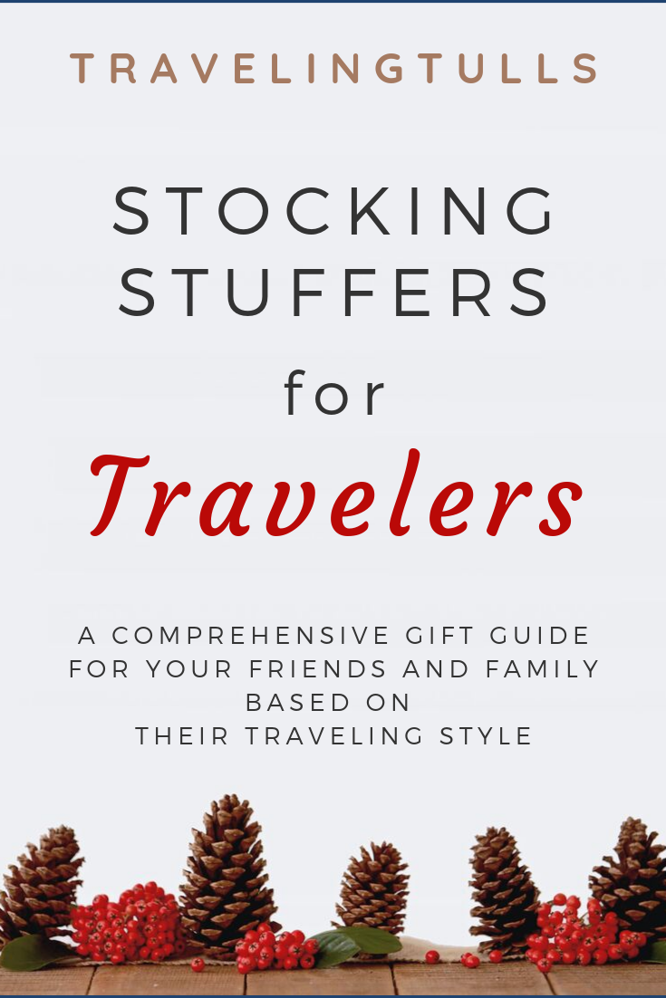 Stocking stuffers for travelers. Gift ideas based on the interests of your traveling friends.
