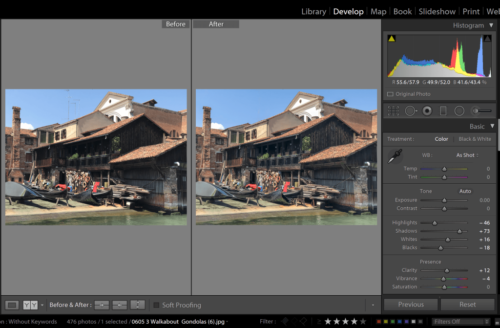 Make simple adjustments to your image in a photo editing program for your travel photo book.