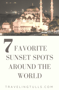 Favorite sunset spots around the world