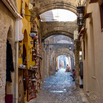 Rhodes Greece alley