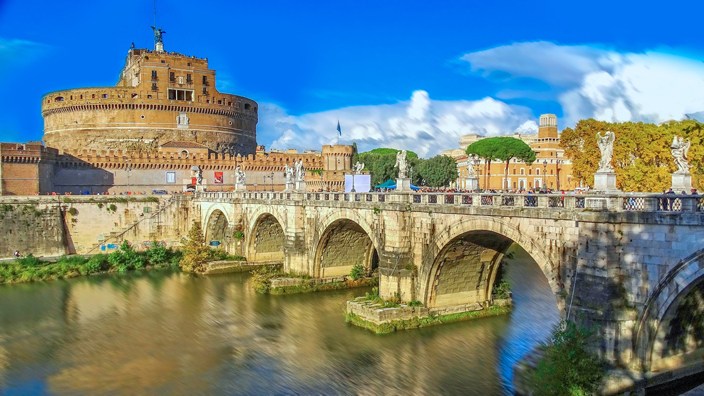 Castel Sant'Angelo, Rome on a self-guided tour.