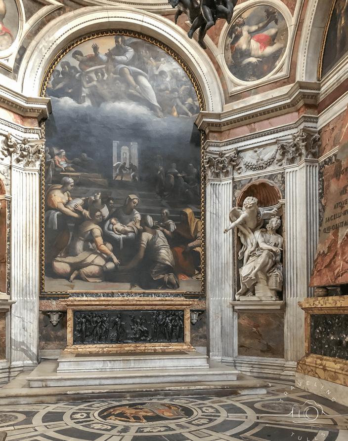 Bernini statue on a self guided tour of Rome